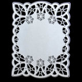 Poppy Crafts Dies - Ornate Rectangle Frame Die with Snowflakes