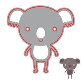 Poppycrafts Dies - Fun Koala Bear Die Design