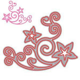 Poppycrafts Dies - Beautiful Star Flourish Die Design