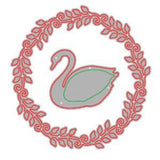 Poppycrafts Dies - Beautiful Swan In Round Frame