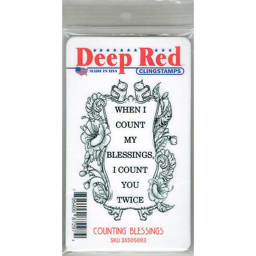 Deep Red Cling Stamp 2.1X3.1 Counting Blessings