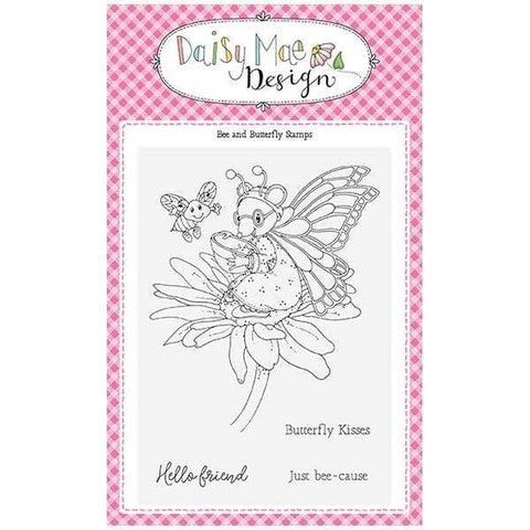 Daisy Mae Designs A6 Stamp Set - Bee and Butterfly - Set of 5 Stamps