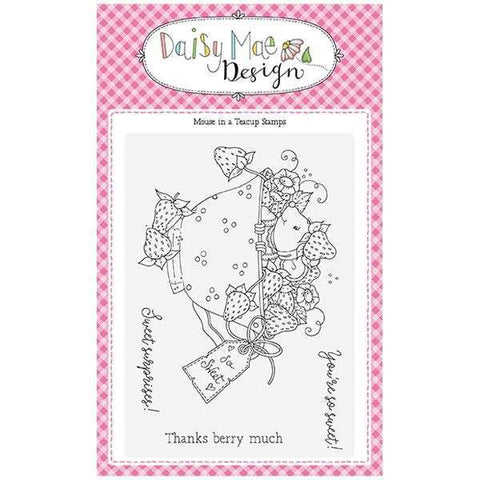 Daisy Mae Designs A6 Stamp Set - Mouse in a Teacup - Set of 4 Stamps