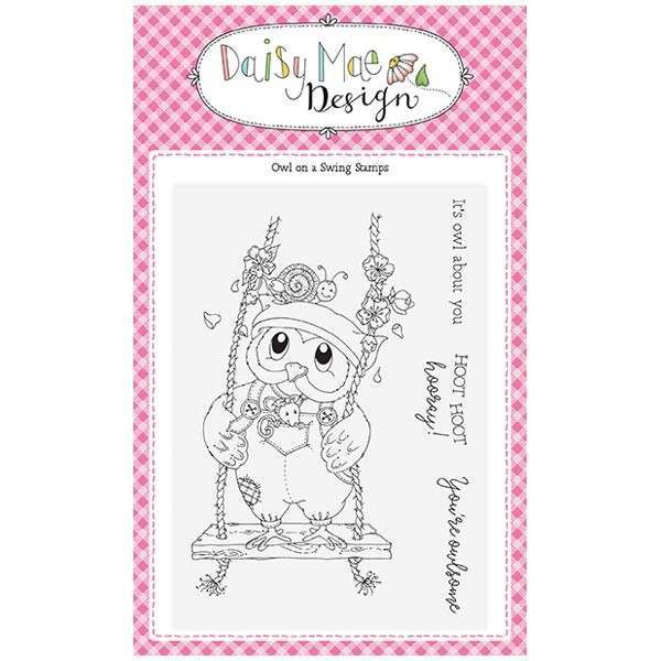 Daisy Mae Designs A6 Stamp Set - Owl on a Swing - Set of 4 Stamps