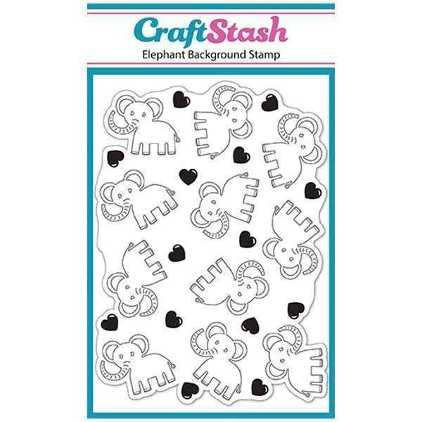 CraftStash A6 Background Stamp - Elephant - Baby Shapes Stamps