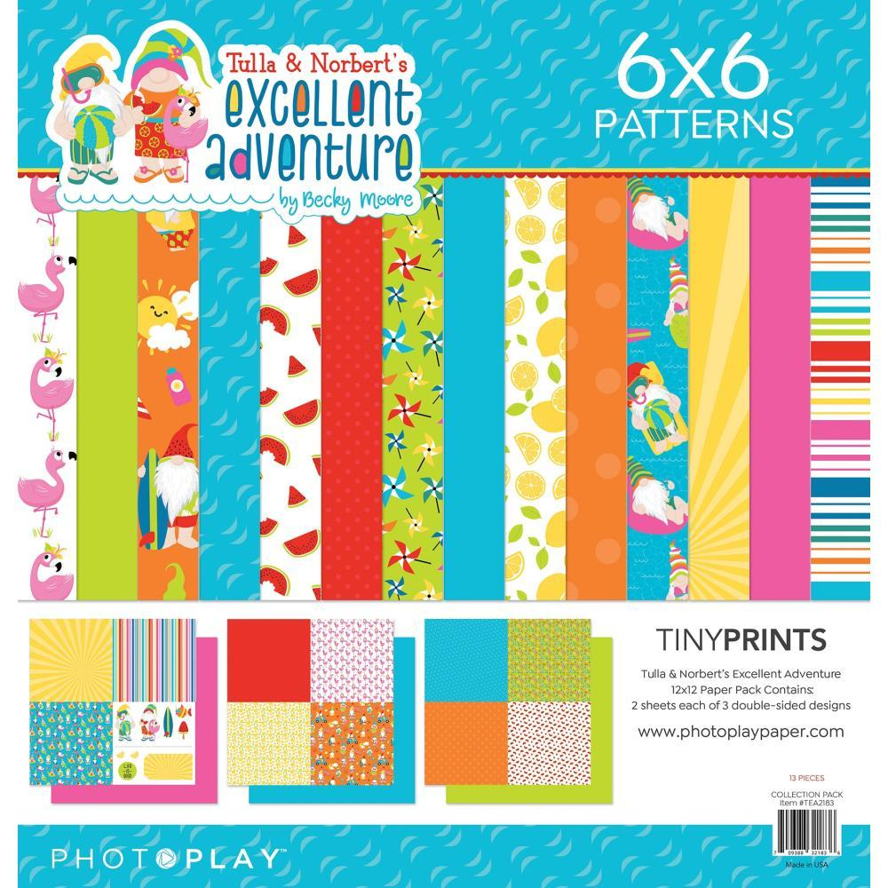 "PhotoPlay Quad Paper Pack 12""X12"" - Tulla & Norbert's Excellent Adventure"