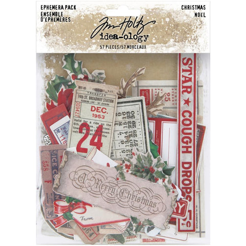 Tim Holtz Idea-Ology Ephemera Pack 57 pack  - Christmas