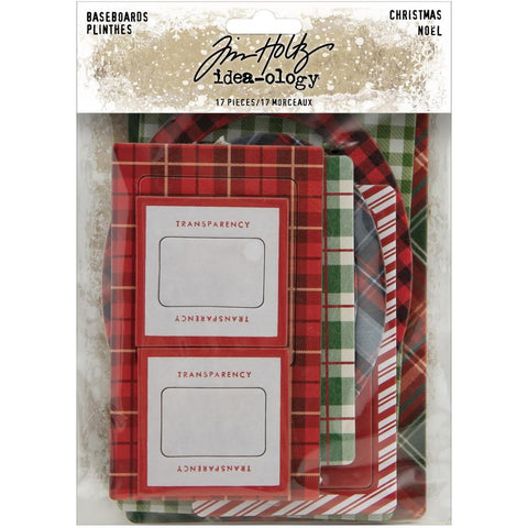 Tim Holtz Idea-Ology Chipboard Baseboards 17 pack  - Christmas