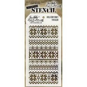 Tim Holtz Layered Stencil 4.125Inchx8.5Inch Holiday Knit