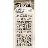 Tim Holtz Layered Stencil 4.125Inchx8.5Inch Typo