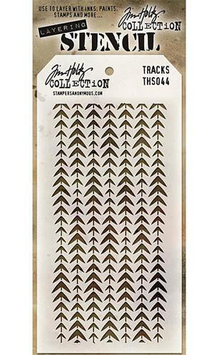 Tim Holtz Layered Stencil 4.125Inch X8.5Inch  Tracks