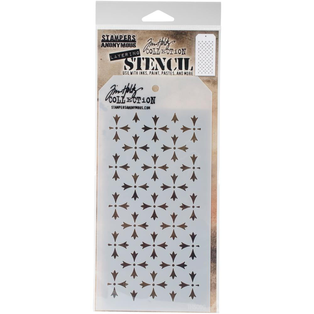 Tim Holtz Layered Stencil 4.125 inch X8.5 inch  - Crossed