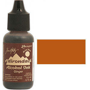 Adirondack Alcohol Ink .5 Ounce -  Earthtones - Ginger