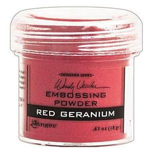 Wendy Vecchi Embossing Powders 1Oz - Red Geranium