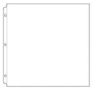 We R Ring Photo Sleeves 12 Inch X12 Inch  10 Pack  Full Page