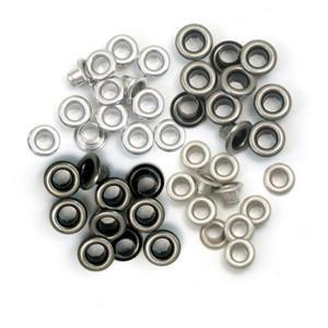 Wrmk - Eyelets - Cool Metal - 60 Pieces 15 Of Each Colour