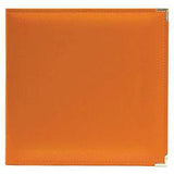 We R Classic Leather 3-Ring Album 12X12 Orange Soda
