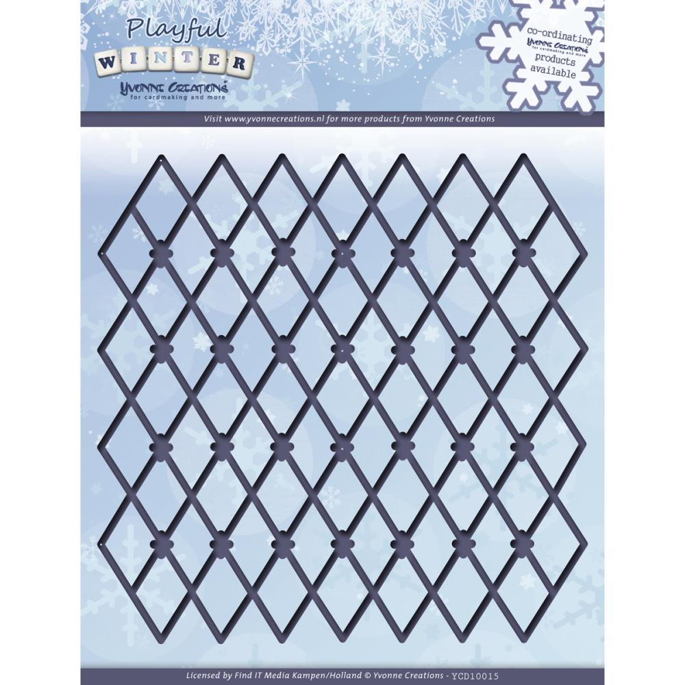 Find It Trading Yvonne Creations Playful Winter Die Trellis Frame