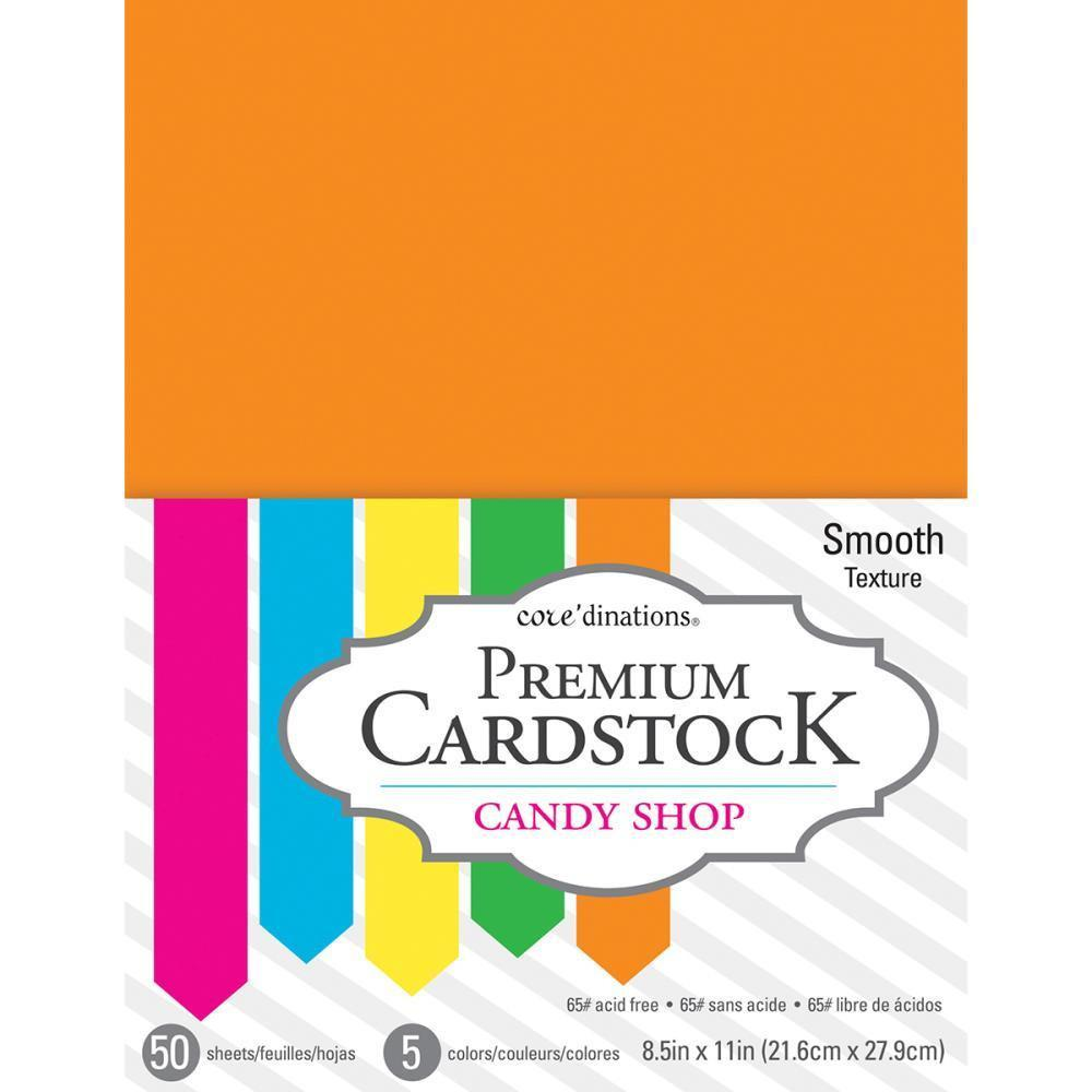 Coredinations Value Pack Smooth Cardstock 8.5 inch X11 inch 50 pack - Candy Shop