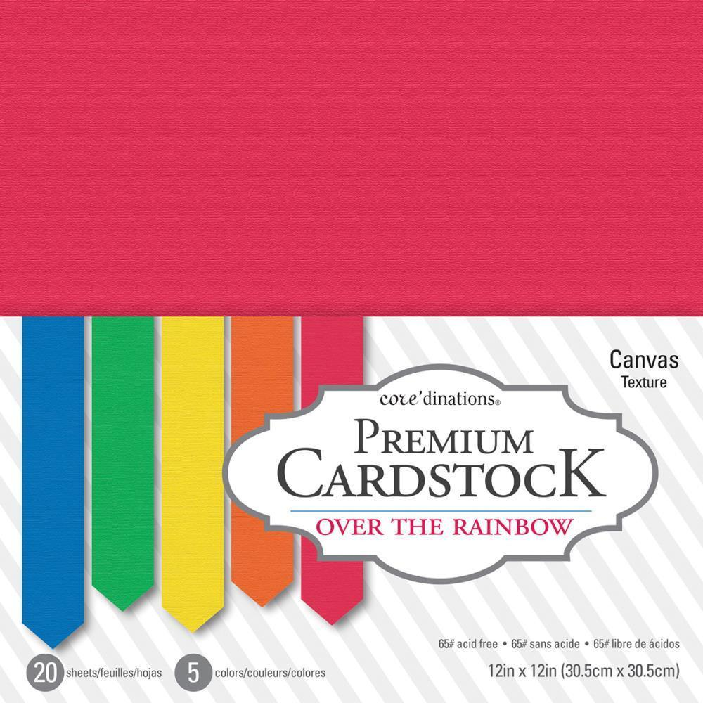 Coredinations Value Pack Smooth Cardstock 12X12 inch - Over The Rainbow - 20 pages
