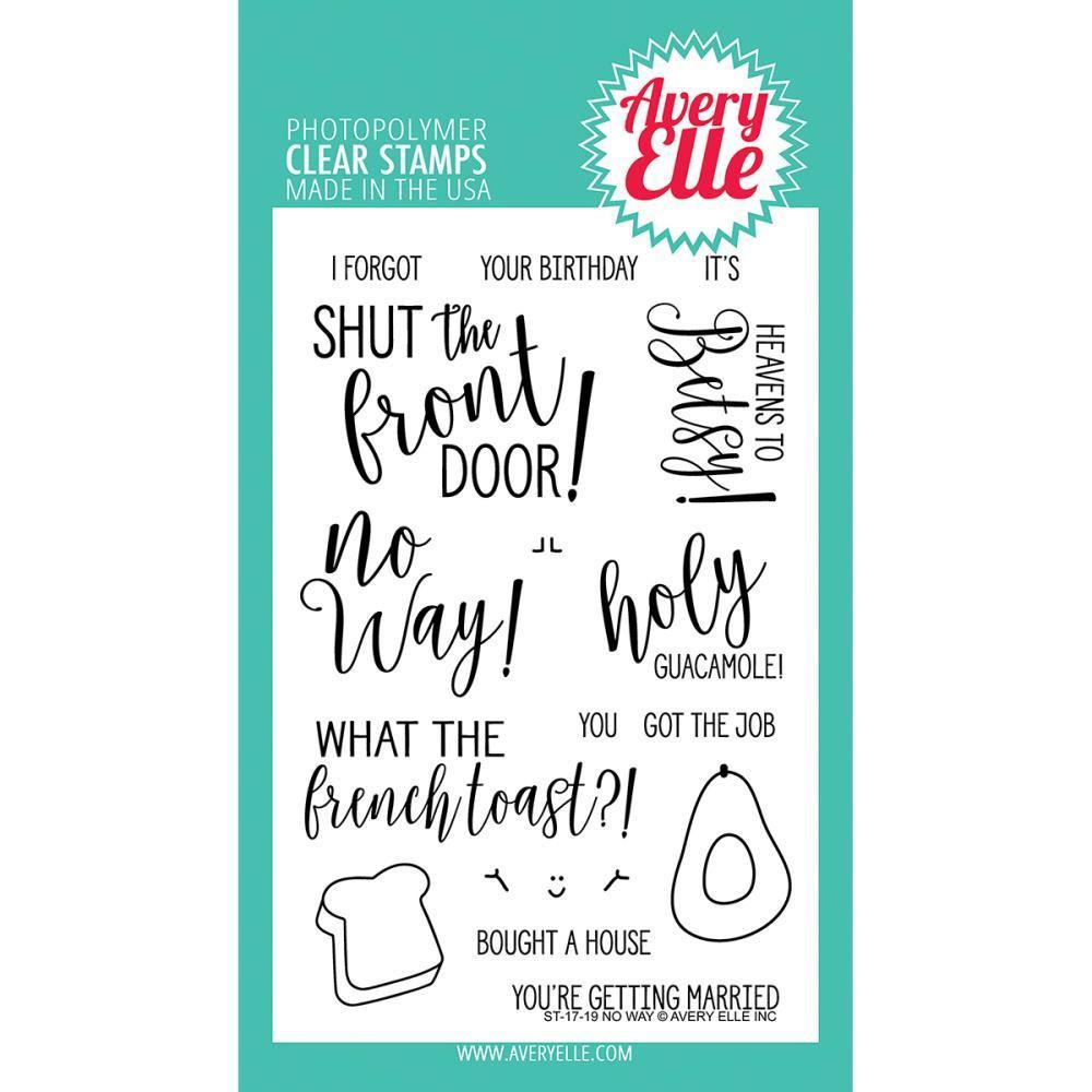 Avery Elle Clear Stamp Set 4X6 inch - No Way!