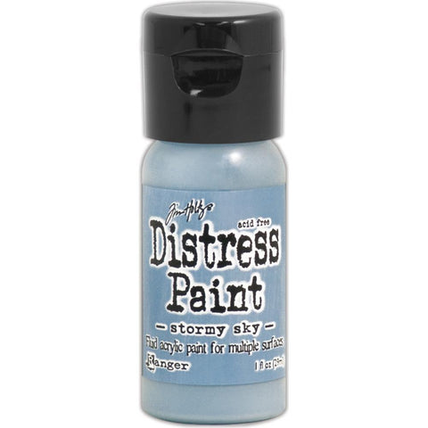 Tim Holtz Distress Paint Flip Top 1oz - Stormy Sky