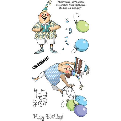 Art Impressions Clear Stamps Birthday Wishes