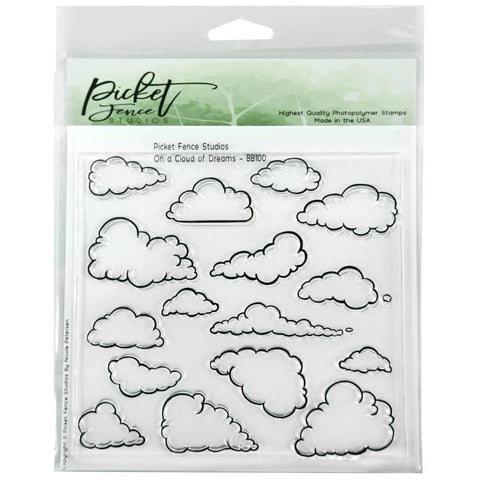 Picket Fence Studios 6X6 Stamp Set On A Cloud Of Dreams