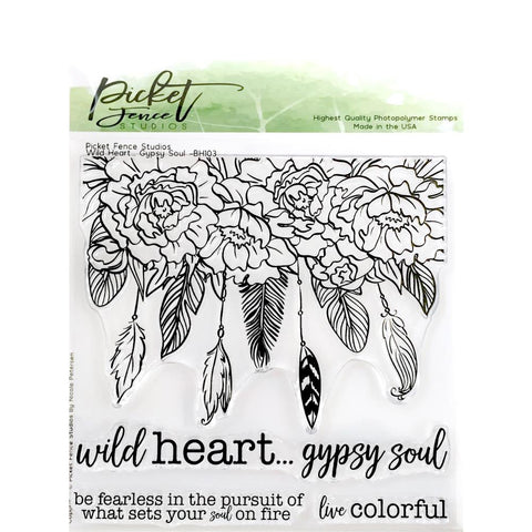 Picket Fence Studios 6inch X6inch Stamp Set Wild Heart Gypsy Soul