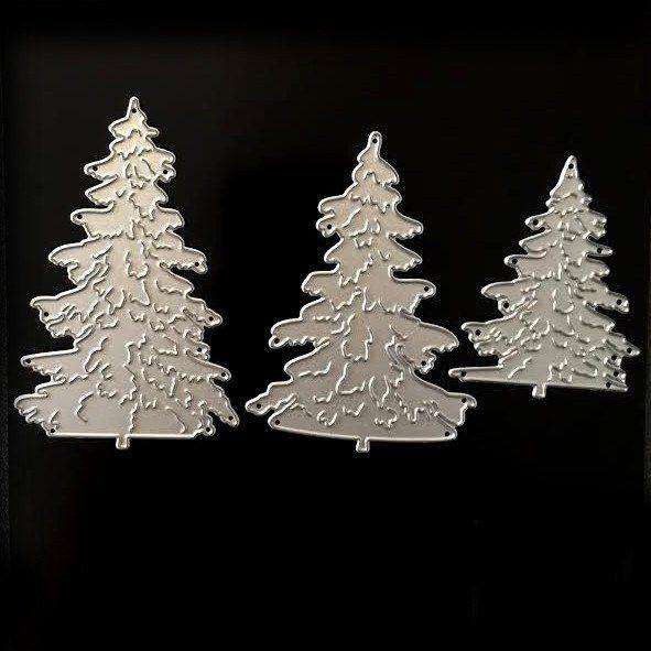 Poppy Crafts - 3 Pine Tree Die Designs