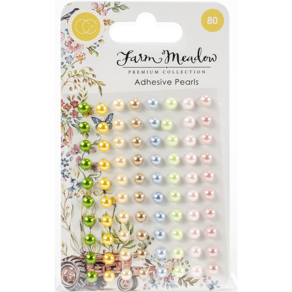 Craft Consortium Adhesive Pearls 80/Pkg Assorted Colors By Clare Therese Gray