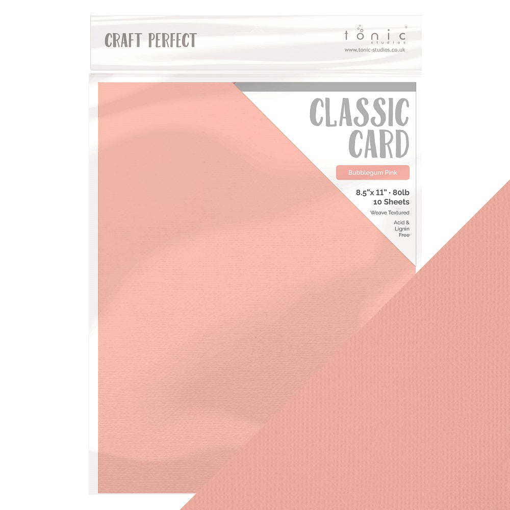 Tonic Studios - Rustic Rose Collection - Craft Perfect - 8.5 x 11 Cardstock - Classic Card - Bubblegum Pink