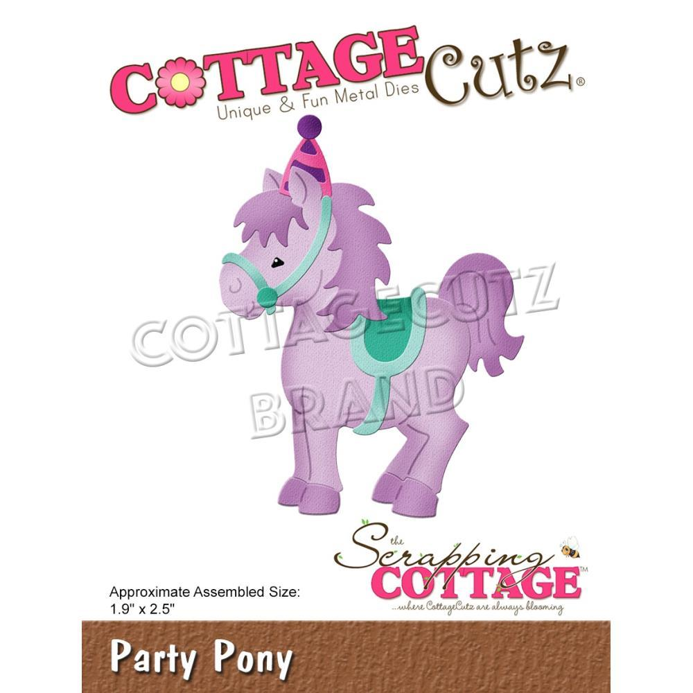 CottageCutz Dies - Party Pony, 1.9 inchX2.5 inch