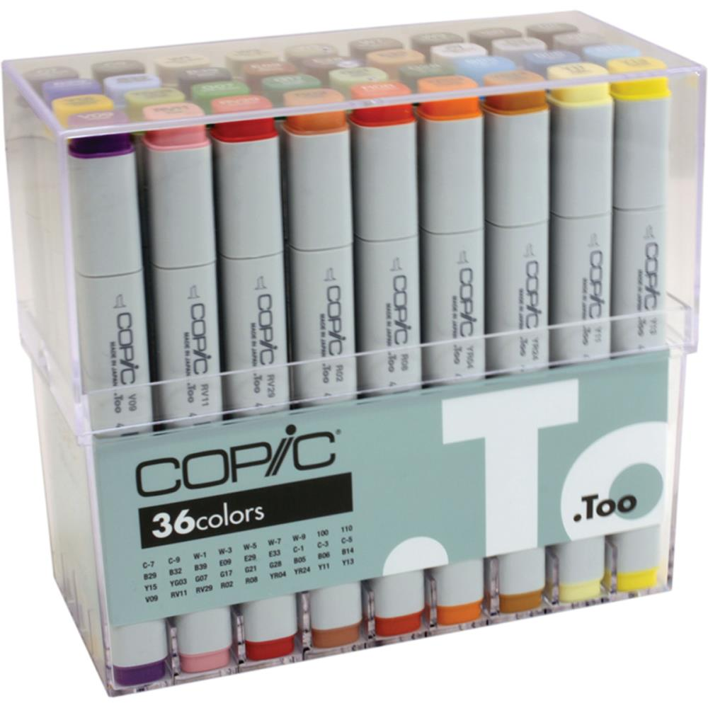 Copic Original Markers Set 36/Pkg Basic