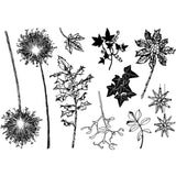 Crafty Individuals Unmounted Rubber Stamp 5.39 inch X3.77 inch Build A Winter Garden