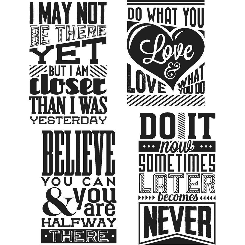 Tim Holtz Cling Stamps 7 inch X8.5 inch Motivation 3