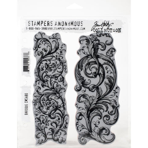 Tim Holtz Cling Stamps 7X8.5 - Baroque