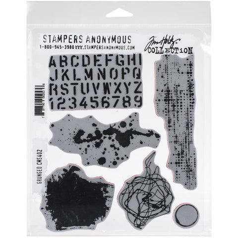 Tim Holtz Cling Stamps 7X8.5 - Grunged