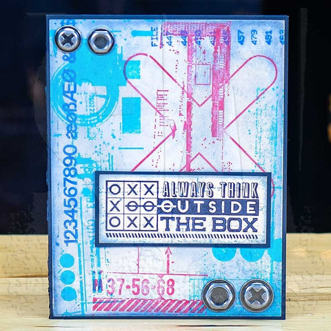 Tim Holtz Cling Stamps 7X8.5 - Glitch 1
