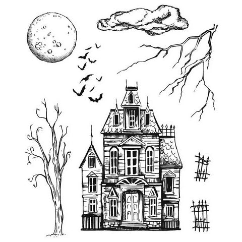 Tim Holtz Cling Stamps 7X8.5 Sketch Manor