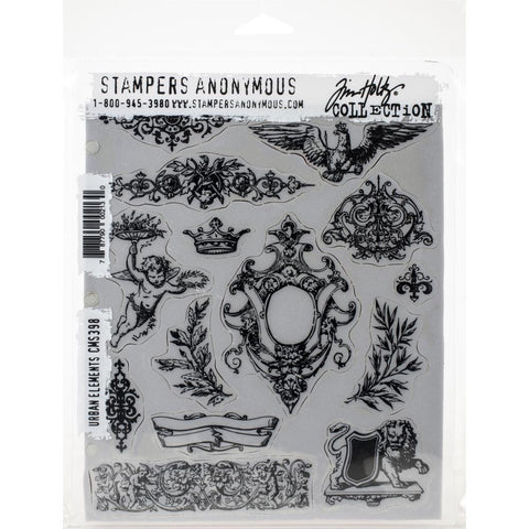 Tim Holtz Cling Stamps 7X8.5 Urban Elements