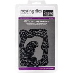 Couture Creations Nesting Dies Paisley Border