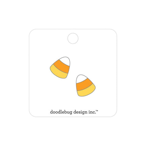 Doodlebug Collectible Enamel Pin 2/Pkg Candy Corn, Candy Carnival