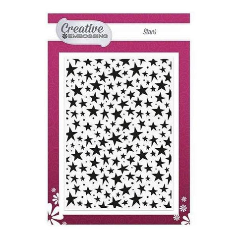 Creative Dies - Texture - Embossing Folder - Stars - 5 x 7 inch