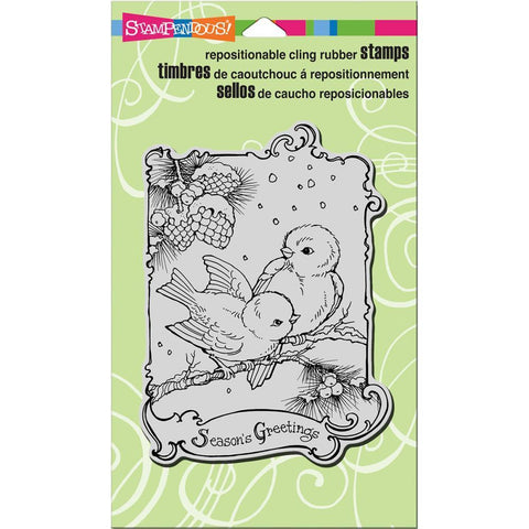 Stampendous Cling Stamp 7.75 inch X4.5 inch Birdie Greetings