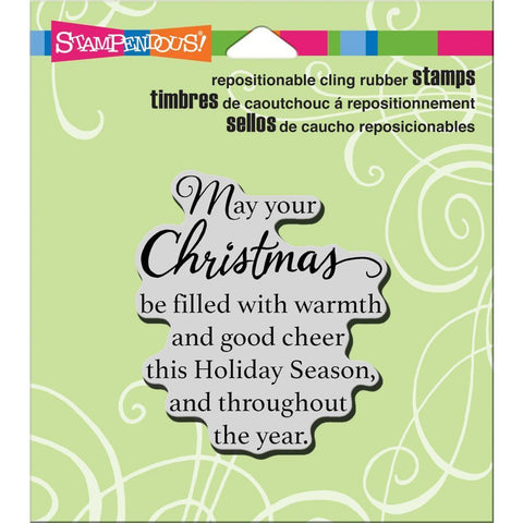 Stampendous Cling Stamp 4.75 inch X4.5 inch Good Cheer
