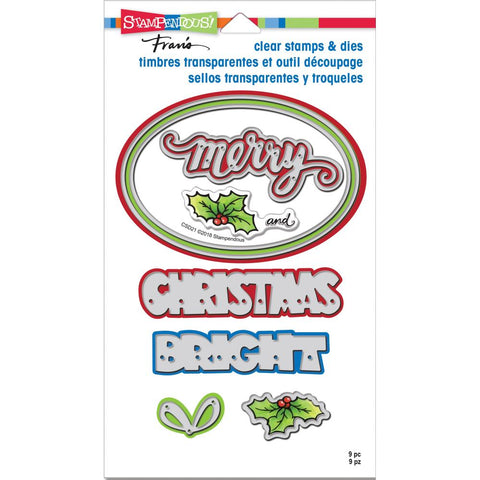 Stampendous Clear Stamp & Die Set Christmas Bright