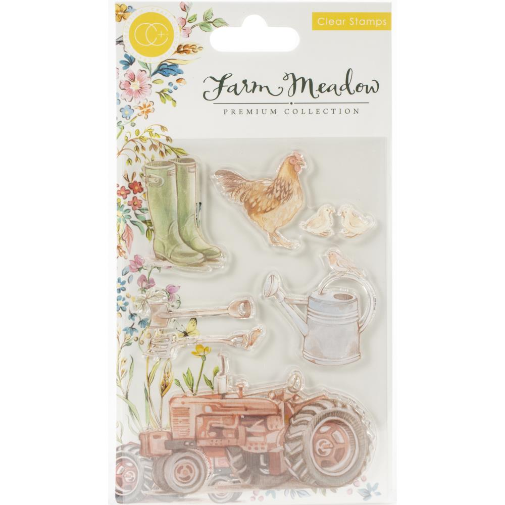 Craft Consortium A5 Clear Stamps Farm Meadow By Clare Therese Gray