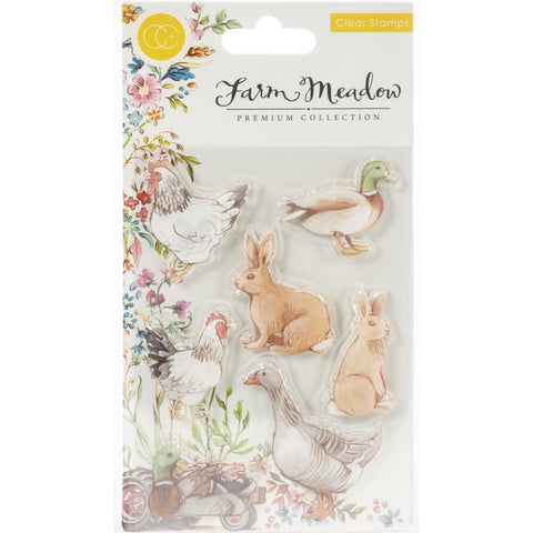 Craft Consortium A5 Clear Stamps Animals By Clare Therese Gray