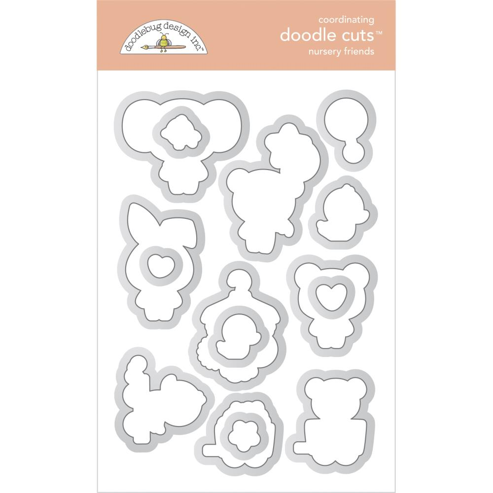 Doodlebug Doodle Cuts Dies - Nursery Friends, Bundle Of Joy
